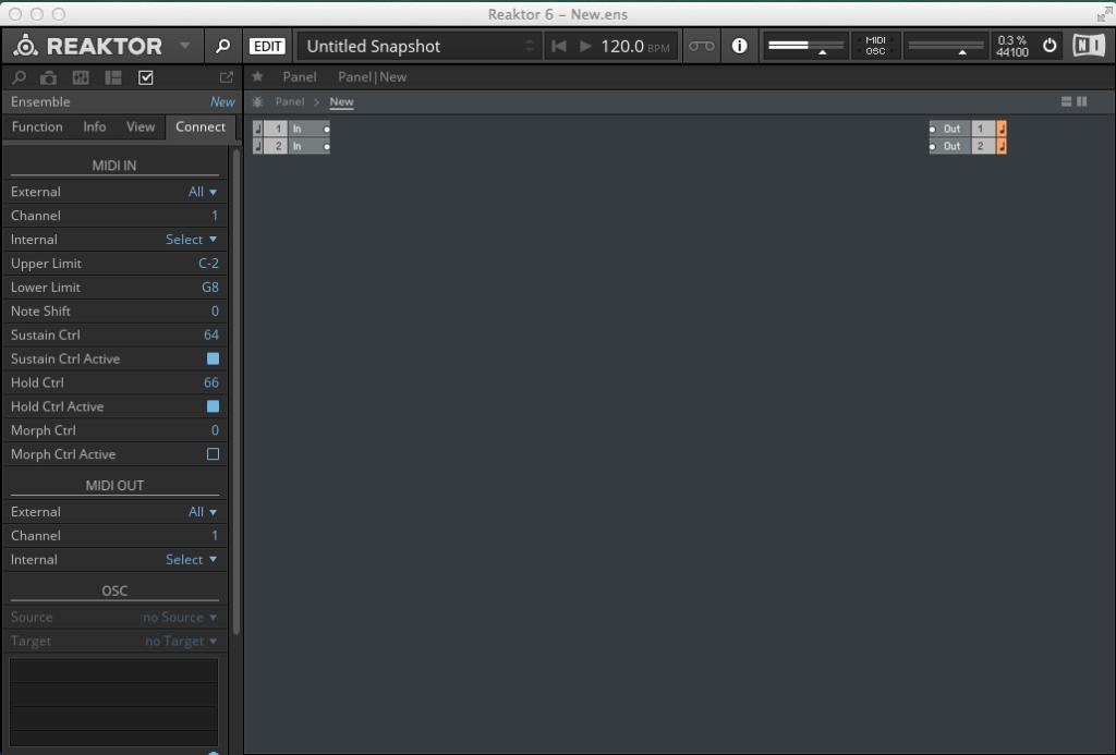 Create a new Ensemble in Reaktor 6