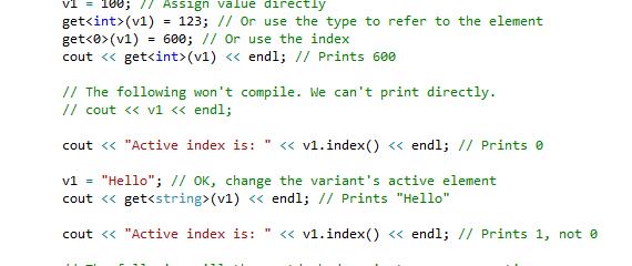 C++17: std::variant<>